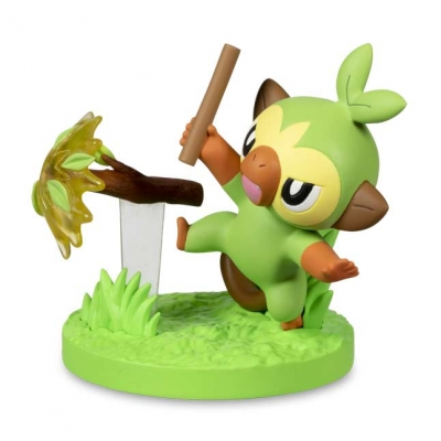 Pokemon center Gallery figure Grookey Branch Poke 6cm