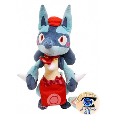 Officiële Pokemon knuffel Pokemon center Lucario Cafe Mix 35cm