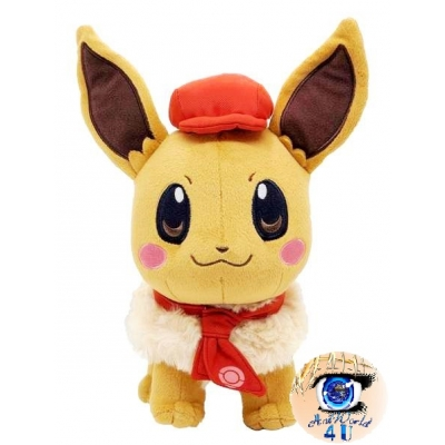 Officiële Pokemon knuffel Pokemon center Eevee Cafe Mix 23cm