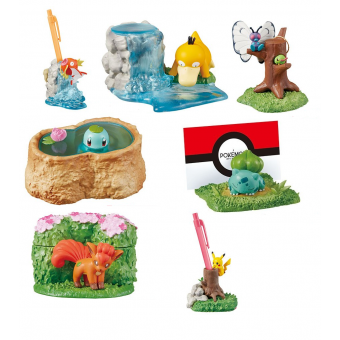 Officiële Pokemon figures re-ment Diorama Desktop