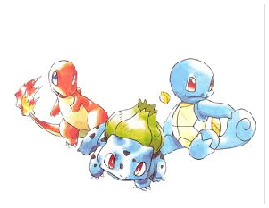 Kanto pokemon knuffels nr 1-151 (red & blue)